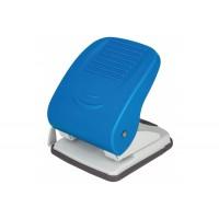 Діркопробивач металевий на 2 отвори на 40 аркEconomix, пластиковий корпу, з лінійкою, синій