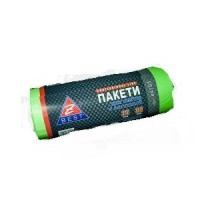 Пакет для смiття поліетиленовий 51*53 з затяжками зелені 35л 30шт. Z-Best