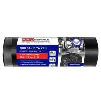 Пакет для смiття PRO поліетиленовий 55*64 з затяжками чорні 60л 15шт.