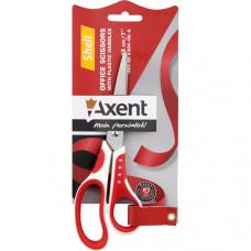 Ножиці 18 см серії Shell. Пластикові ручки з гумовими вставками..Колір: біло-червоний 6304-06